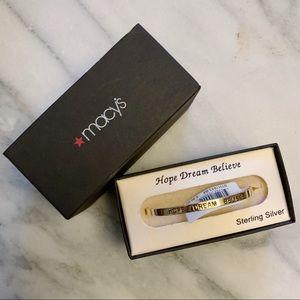 Macy's Jewelry - NWT Macy's Sterling Silver Cuff Bracelet
